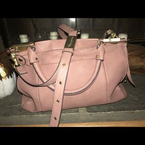 Large Dusty Rose handbag with detachable strap